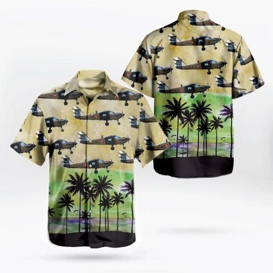 Rdaf flyvevabnet saab t 17 supporter hawaiian shirt 1