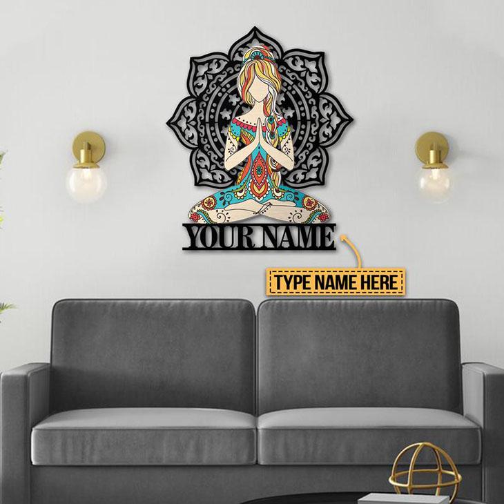 Yoga Personalized Custom Name Metal Sign1