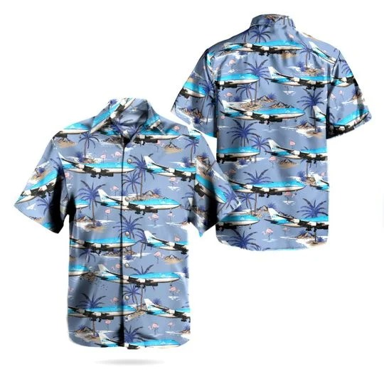 Klm royal dutch airlines boeing 747 406m hawaiian shirt 1