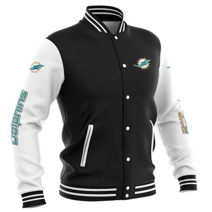 Miami dolphins baseball jacket 3