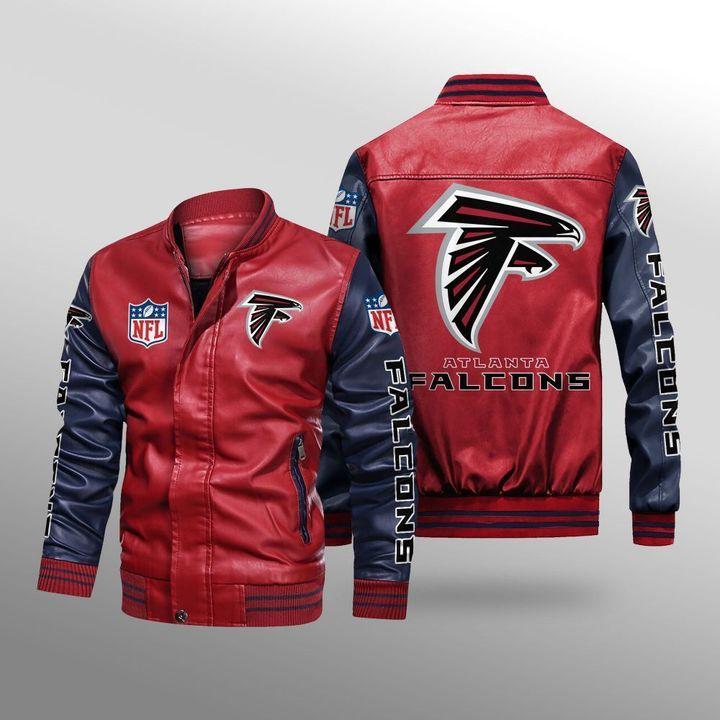 Atlanta Falcons Leather Bomber Jacket 2