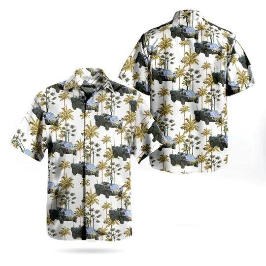 Royal netherlands army fennek hawaiian shirt 1
