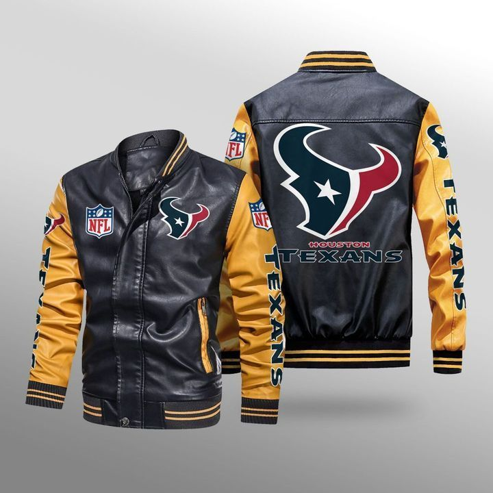 Houston Texans Leather Bomber Jacket 3