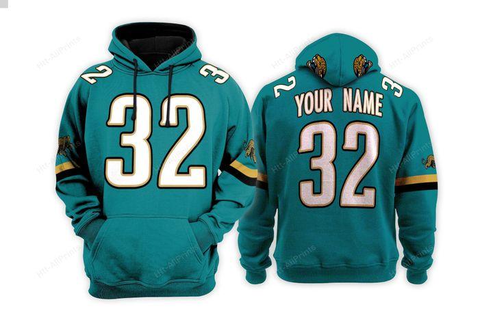 Personalized Jacksonville jaguars custom 3d hoodie