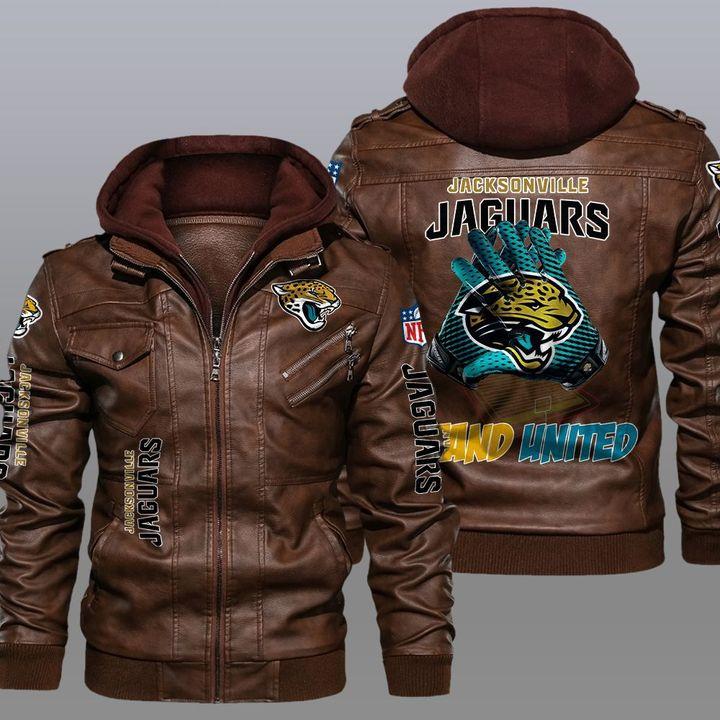 NFL Jacksonville Jaguars leather jacket 2