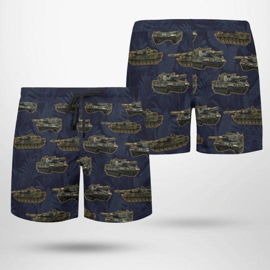 Leopard 2 german army hawaiian shirt and shorts 2