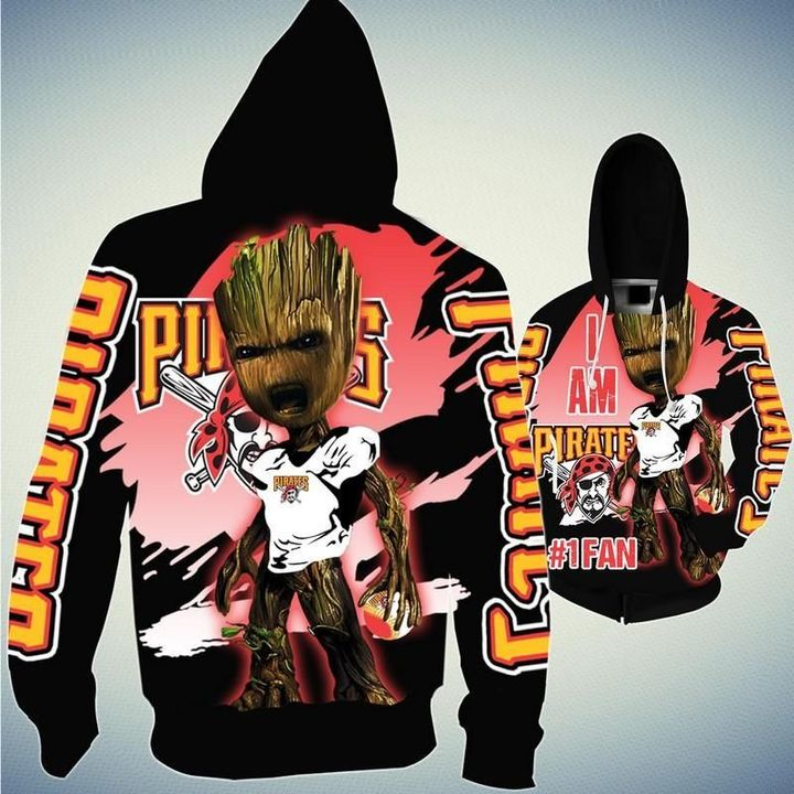 Baby Groot Pittsburgh pirates hoodie 1