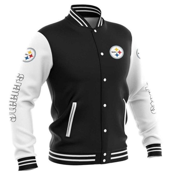 Pittsburgh steelers baseball jacket 3