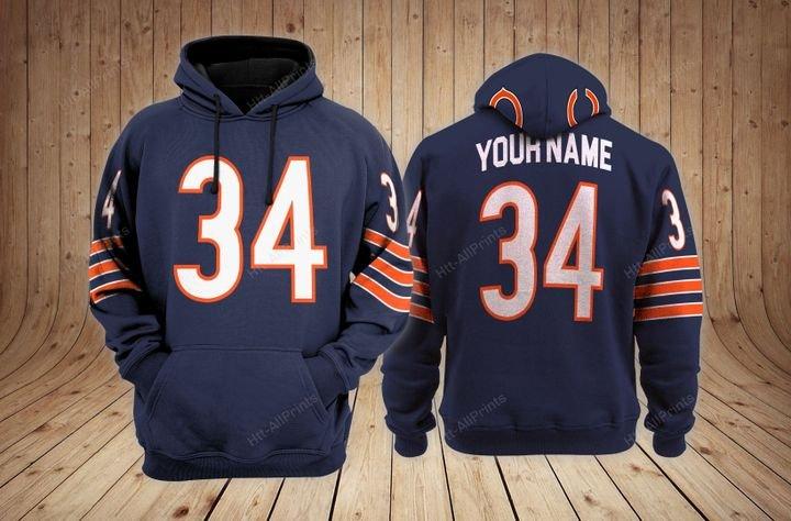 Chicago bears custom name hoodie