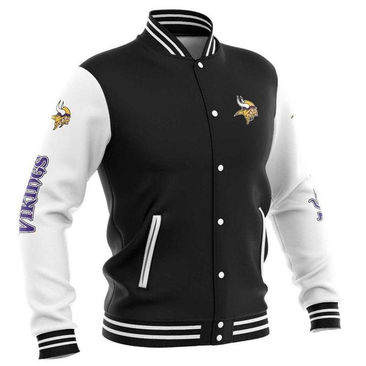 Minnesota vikings baseball jacket 3