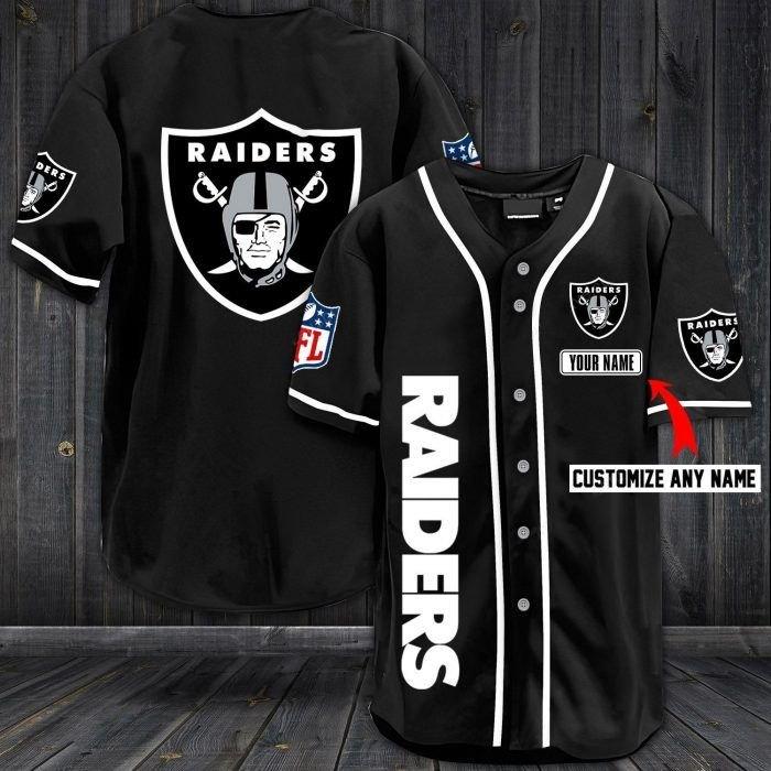 Nfl las vegas raiders custom name baseball jersey shirt