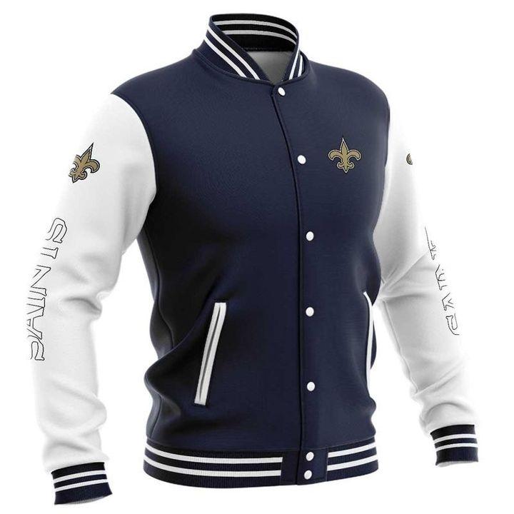 New orleans saints baseball jacket 5