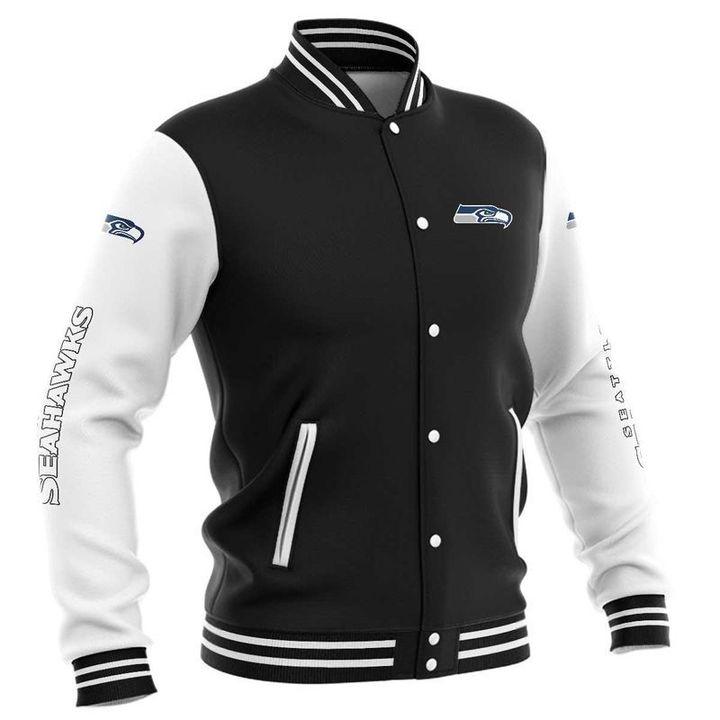 Seattle seahawks baseball jacket 3