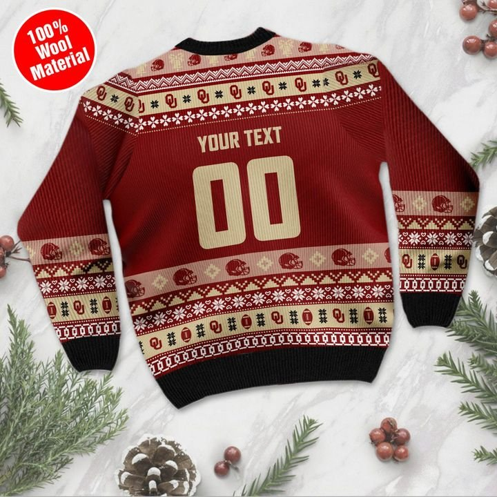 Oklahoma Sooners Custom Ugly Christmas Sweater 3