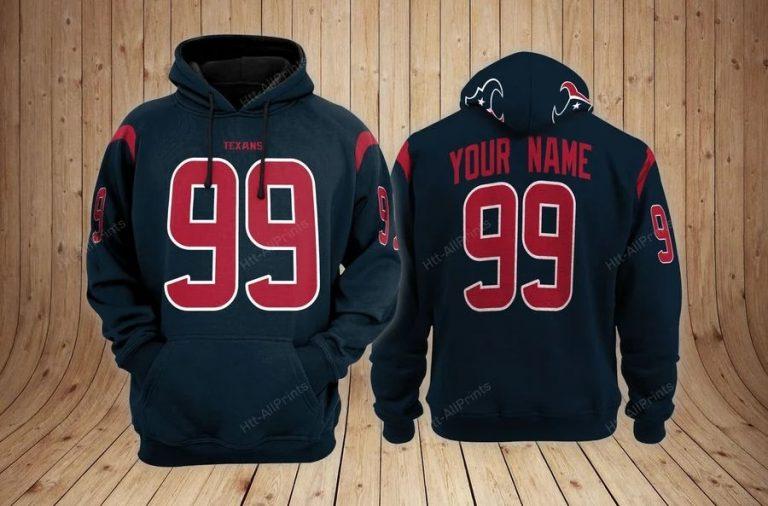 Houston texans custom name hoodie