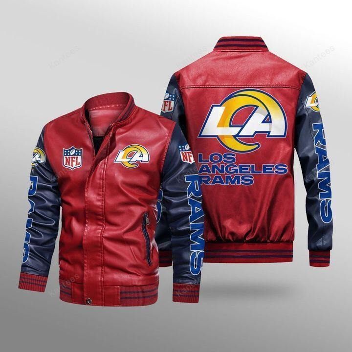 Los Angeles Rams Leather Bomber Jacket 2