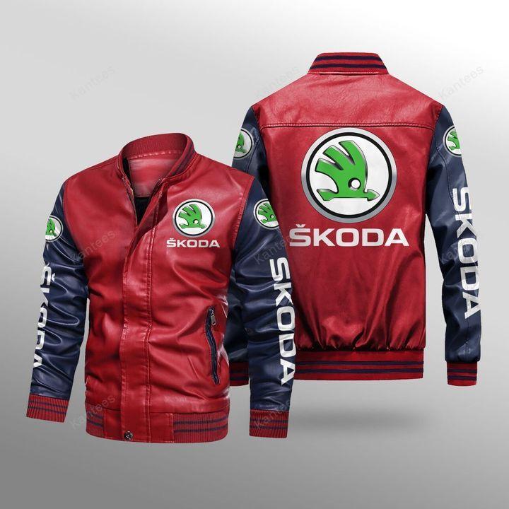 Skoda Auto Leather Bomber Jacket 2