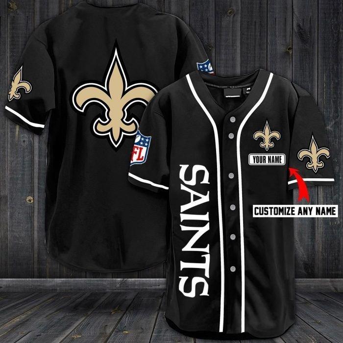 Nfl new orleans saints custom name baseball jersey shirt