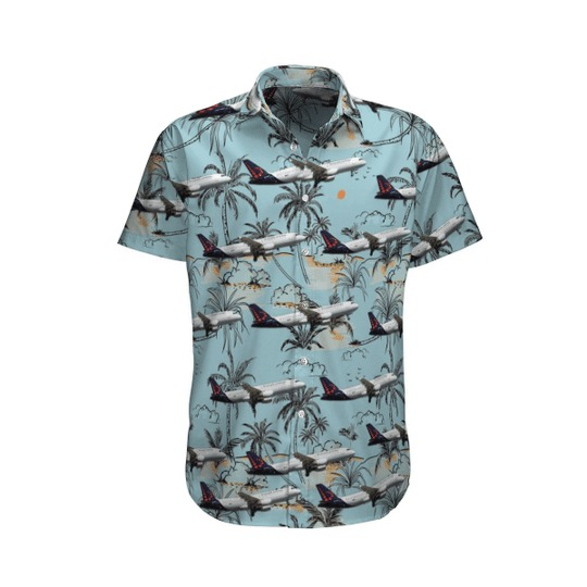 Brussels airlines airbus a320 214 hawaiian shirt 1