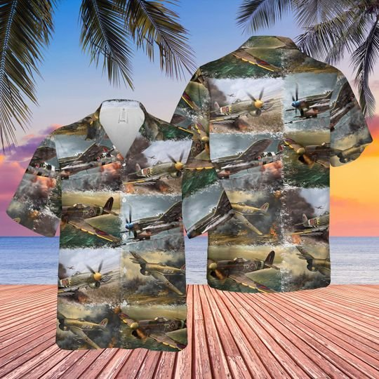 Royal Air Force Hawker Typhoon Hawaiian Shirt 1
