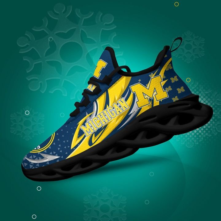 Michigan Wolverines clunky Max Soul High Top Shoes 4
