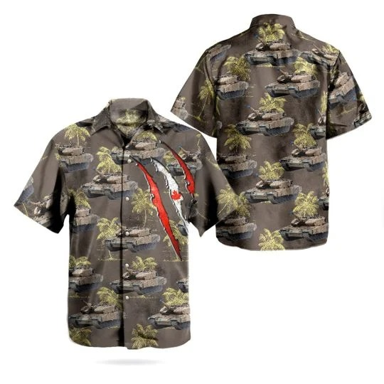 Canadian army leopard 2a4m hawaiian shirt 1
