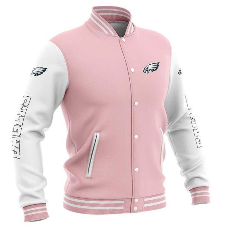 Philadelphia eagles baseball jacket 1