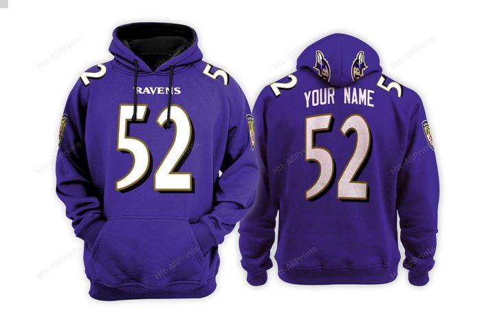 Baltimore ravens custom name hoodie