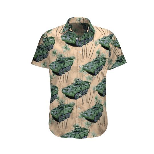 Canadian army lav iii light armoured vehicle hawaiian shirt 1