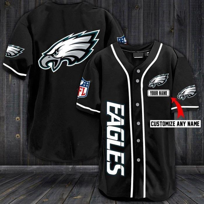 Nfl philadenphia eagles custom name baseball jersey shirt