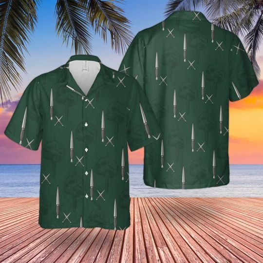 Marines commando dagger hawaiian shirt 1