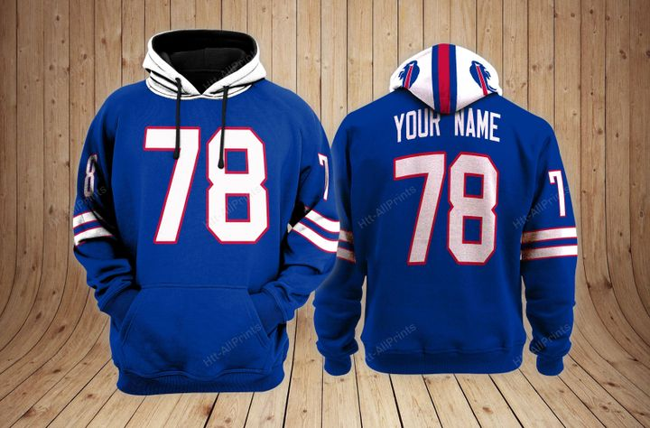 Buffalo bills custom name hoodie