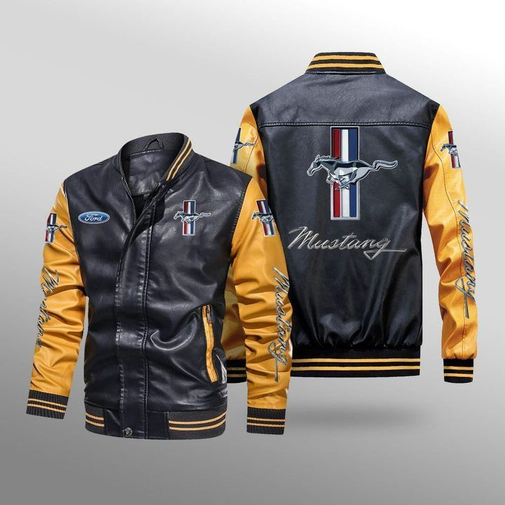 Ford Mustang Leather Bomber Jacket 3