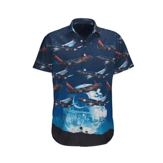 United airlines star wars boeing 737 824 hawaiian shirt 1