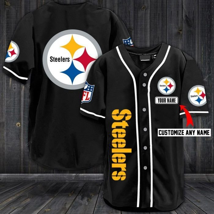 Nfl pittsburgh steelers baseball jersey shirt
