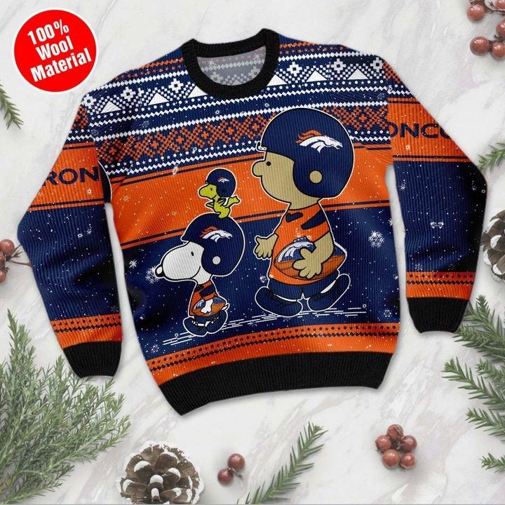 Denver Broncos Baby Yoda Ugly Christmas Sweater 3