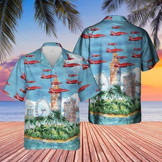 Royal Air Force Red Arrows Hawaiian Shirt 1