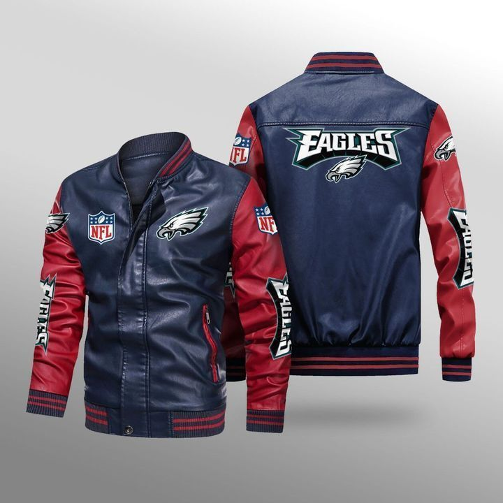 Philadelphia Eagles Leather Bomber Jacket 4