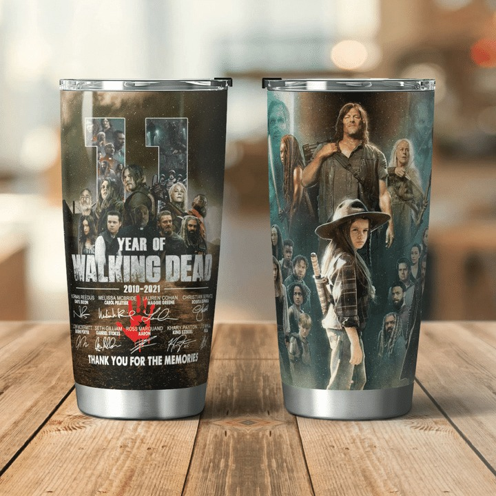 11 years of Waking Dead thank you for the memories tumbler 4