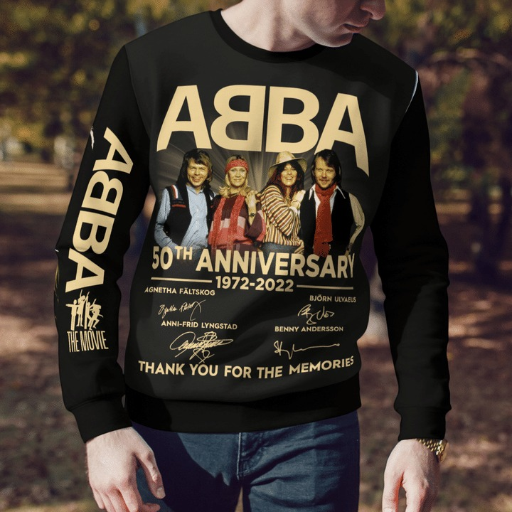 ABBA 50th Anniversary 1972 2022 thank you for the memories 3d shirt hoodie 6