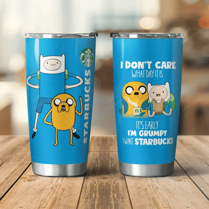 Adventure Time Jake I dont care what day is I want Starbucks tumbler 1