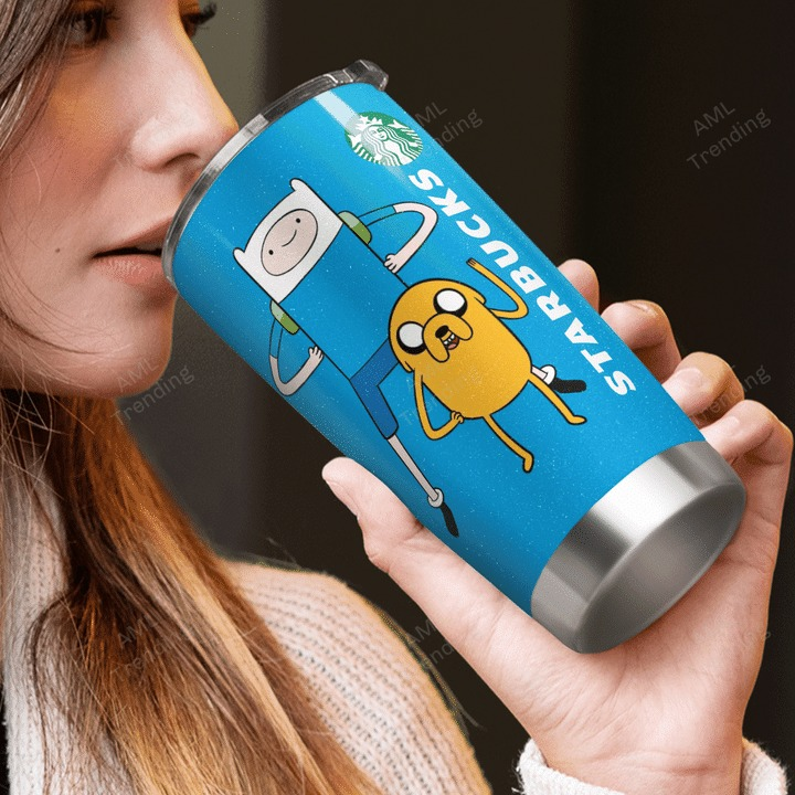 Adventure Time Jake I dont care what day is I want Starbucks tumbler 3