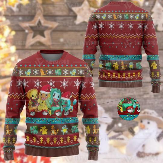 Anime Pokemon Custom Imitation Knitted Sweatshirt