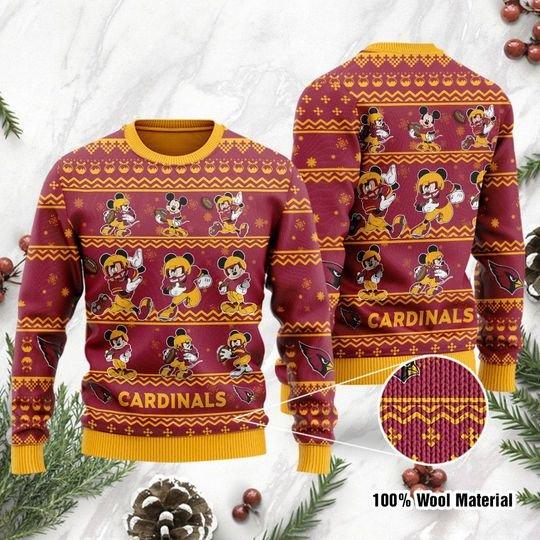 Arizona Cardinals Mickey Mouse Ugly Sweater