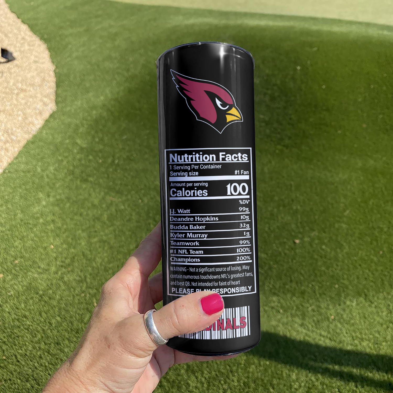 Arizona Cardinals Skinny Tumbler1
