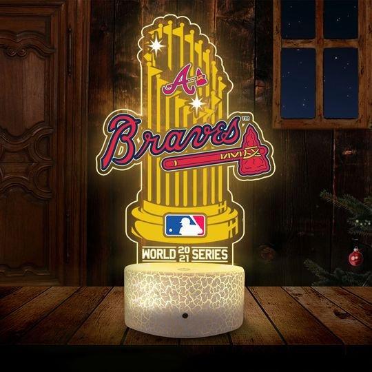 Atlanta Braves World 2021 Series Champions 3D Led Lamp