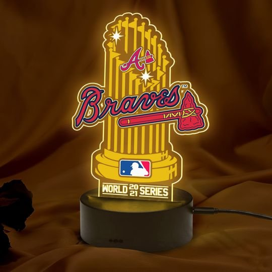 Atlanta Braves World 2021 Series Champions 3D Led Lamp1