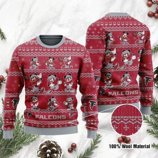Atlanta Falcons Mickey Custom name Sweatshirt Sweater
