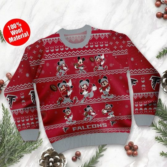 Atlanta Falcons Mickey Custom name Sweatshirt Sweater1