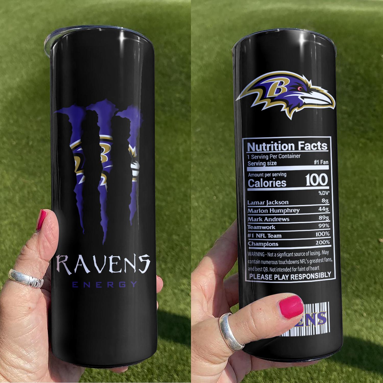 Baltimore Ravens Skinny Tumbler